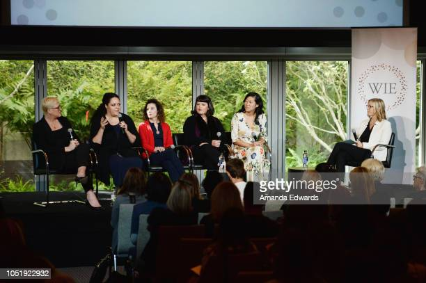 Producer Suzanne McNeill Farwell author Anna Holmes Madeline Di Nonno director Michelle Kantor producer Winnie Kemp and Erika Anderson attend the...