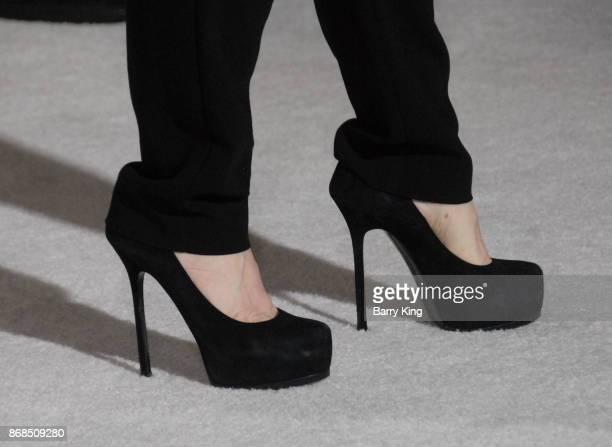 Producer Suzanne Todd shoe detail attends the premiere of STX Entertainment's 'A Bad Mom's Christmas' at Regency Village Theatre on October 30 2017...