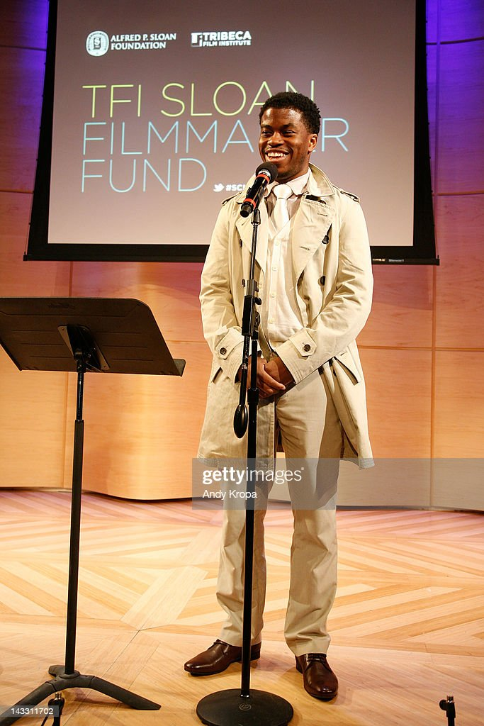 Producer Tamir Muhammad speaks at the Sloan WIP Readings & Cocktails during the 2012 Tribeca Film Festival at the Green Space on April 23, 2012 in New York City.