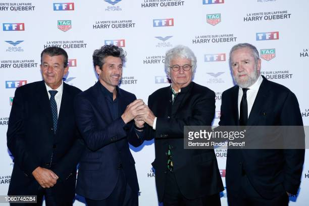 """Producer Tarak Ben Ammar, Actor of the series Patrick Dempsey, Director of the series Jean-Jacques Annaud and Producer Fabio Conversi attend """"The..."""