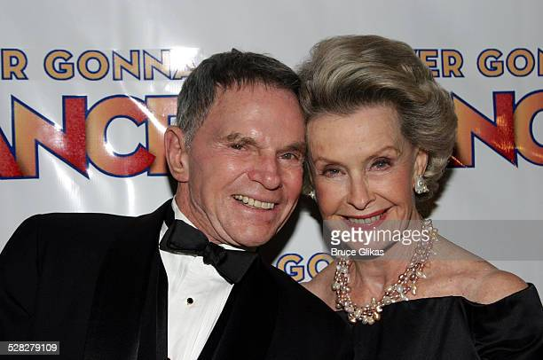 Producer Ted Hartley and wife Dina Merrill during Never Gonna Dance Opening Night on Broadway at Marriott Marquis Ballroom in New York City New York...