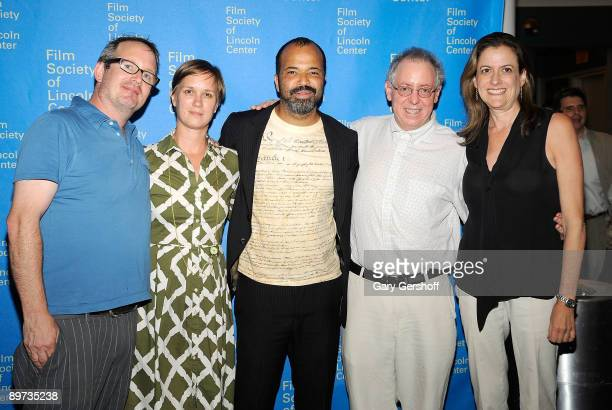 Producer Ted Hope Ann Carry actor Jeffrey Wright writer/producer James Schamus and executive director Film Society of Lincoln Center Mara Mnus attend...