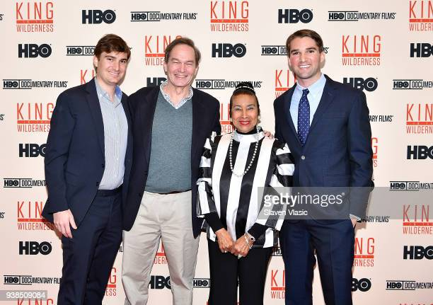 Producer Teddy Kunhardt director Peter Kunhardt Civil Rights activist Xernona Clayton and producer George Kunhardt attend screening of HBO's 'King in...