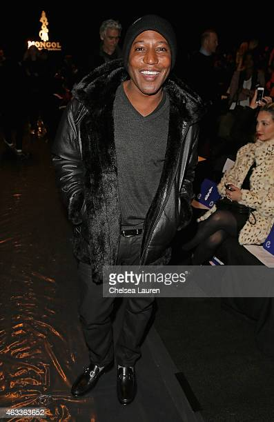 Producer Ten Travis attends the Mongol fashion show during Mercedes-Benz Fashion Week Fall 2015 at The Theatre at Lincoln Center on February 13, 2015...