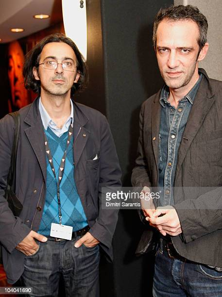 Producer Thanassis Karathanos and director Rafi Pitts attend 'The Hunter' Premiere held at the AMC Yonge Dundas 24 theaterr during the Toronto...