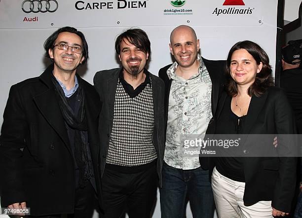 Producer Thanassis Karathanos director Scander Copti director Yaron Shani and producer Talia Kleinhendler attend the German Films Villa Aurora...