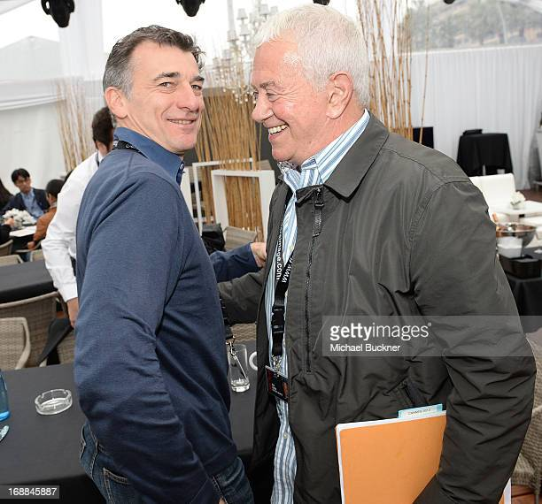Producer Thierry Desmichelle and producer Mark Damon attends the Torch Cannes Lone Survivor Breakfast during The 66th Annual Cannes Film Festival at...