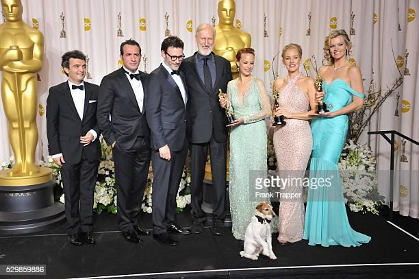 Producer Thomas Langmann, actor Jean Dujardin, director Michel Hazanavicius, actors James Cromwell, Berenice Bejo, Uggie the dog, Penelope Ann...
