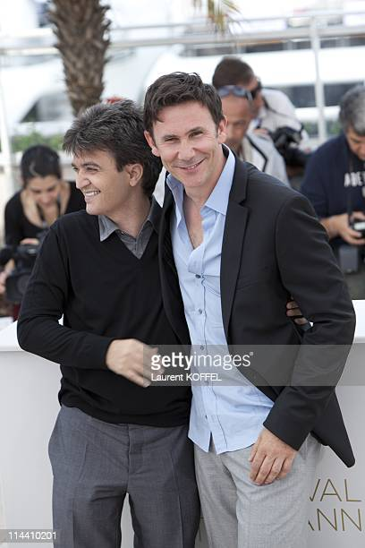Producer Thomas Langmann and director Michel Hazanavicius attend 'The Artist' Photocall at the Palais des Festivals during the 64th Cannes Film...