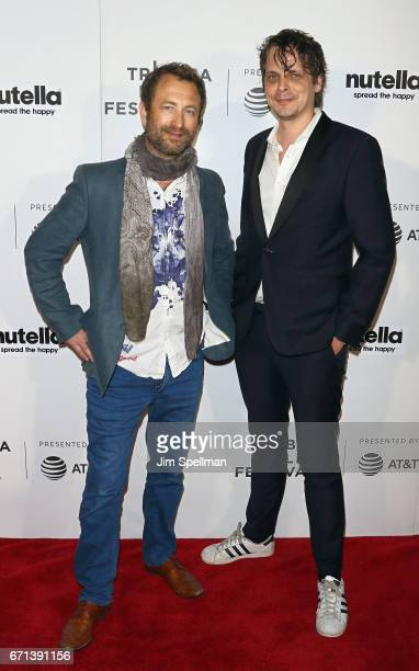 Producer Thomas Lien and director Mikal Hovland attend the Shorts Program Disconnected during the 2017 Tribeca Film Festival at Regal Battery Park...