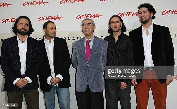 Producer Thomas Torelli director Franco Fracassi author Giulietto Chiesa director Francesco Trento and Paolo J Bianchi attend a photocall for 'Zero...