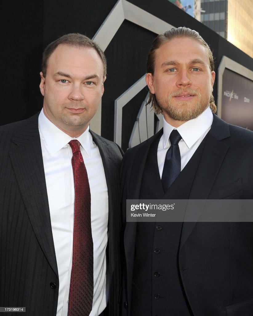 Producer Thomas Tull (L) and actor Charlie Hunnam arrive at the premiere of Warner Bros. Pictures' and Legendary Pictures' 'Pacific Rim' at Dolby Theatre on July 9, 2013 in Hollywood, California.