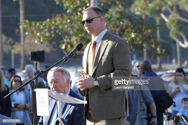 Producer Thomas Tull attends as the Rose Bowl Legacy Foundation hosts the dedication of the Jackie Robinson Statue at Rose Bowl on November 29 2017...