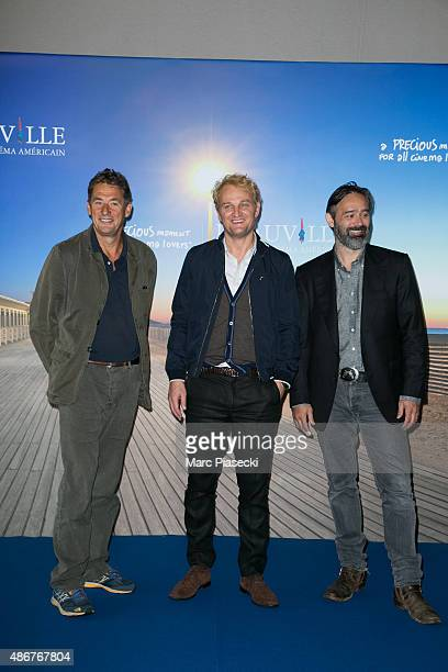 Producer Tim Bevan actor Jason Clarke and director Baltasar Kormakur attend the 'Everest' photocall during the 41st Deauville American Film Festival...