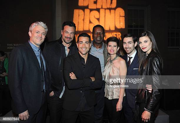 Producer Tim Carter actors Aleks Paunovic Jesse Metcalfe Dennis Haysbert Carrie Genzel director Zach Lipovsky and Meghan Ory attend the premiere of...