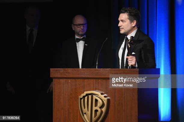 MBC producer Tim Dillon accepts the Special Jury Prize onstage at the Advanced Imaging Society 2018 Lumiere Awards presented by Dell and Cisco at...