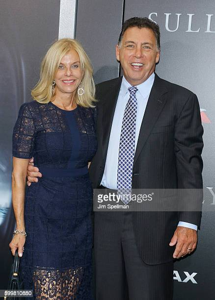 """Producer Tim Moore and guest attend the """"Sully"""" New York premiere at Alice Tully Hall, Lincoln Center on September 6, 2016 in New York City."""