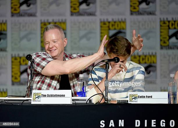 Producer Tim Schlattmann and actor Colin Ford attend CBS TV Studios' panel for 'Under the Dome' during ComicCon International 2015 at the San Diego...