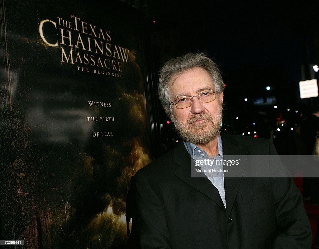 Producer Tobe Hooper arrives at the premiere of New Line's 'Texas Chainsaw Massacre: The Beginning' at Grauman's Chinese Theatre on October 5, 2006 in Los Angeles, California.