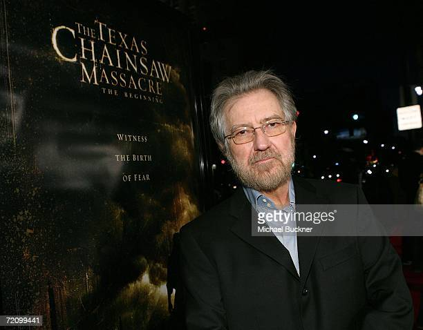 Producer Tobe Hooper arrives at the premiere of New Line's 'Texas Chainsaw Massacre The Beginning' at Grauman's Chinese Theatre on October 5 2006 in...