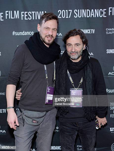 Producer Tobias Siebert and director Talal Derki attend the DFP Reception during day 2 of the 2017 Sundance Film Festival at The Shop on January 20...