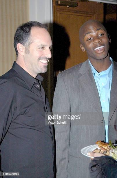 Producer Todd Black and Derek Luke during 'Antwone Fisher' Named Creative Coalition's 2003 Spotlight Award Winner at Peninsula Hotel in Beverly Hills...