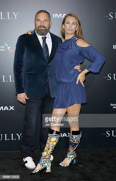 """Producer Todd Komarnicki and actress Jane Bradbury attend the """"Sully"""" New York premiere at Alice Tully Hall, Lincoln Center on September 6, 2016 in..."""