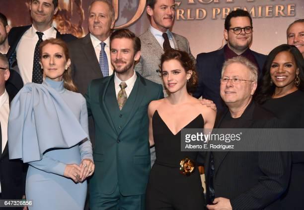 Producer Todd Lieberman Producer David Hoberman actors Luke Evans Josh Gad and Walt Disney Studios President Alan Bergman Singer Celine Dion actors...