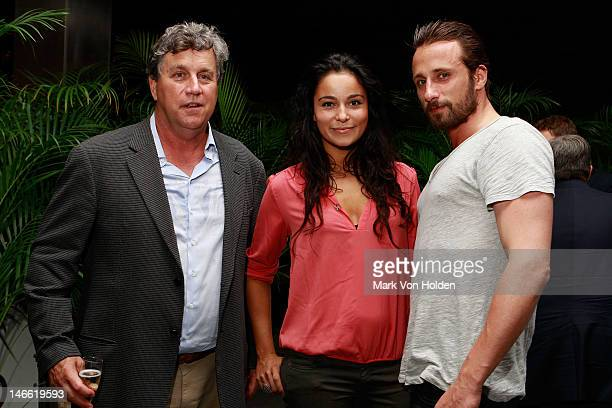 Producer Tom Bernard Model Alexandra Schouteden and actor Matthias Schoenaerts attend the after party for The Cinema Society with The Hollywood...