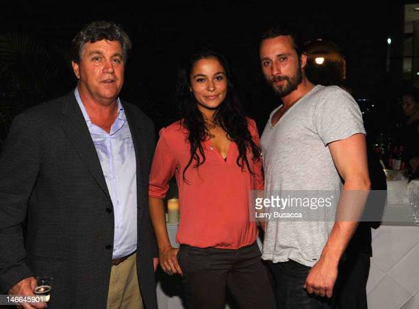 Producer Tom Bernard with Alexandra Schouteden and Mattias Schoenaerts attend the after party for the Cinema Society with The Hollywood Reporter...