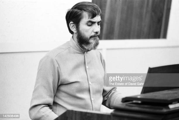 Producer Tom Dowd at Atlantic Records Studios during a recording session for soul singer Aretha Franklin in April 1968 in New York City, New York.