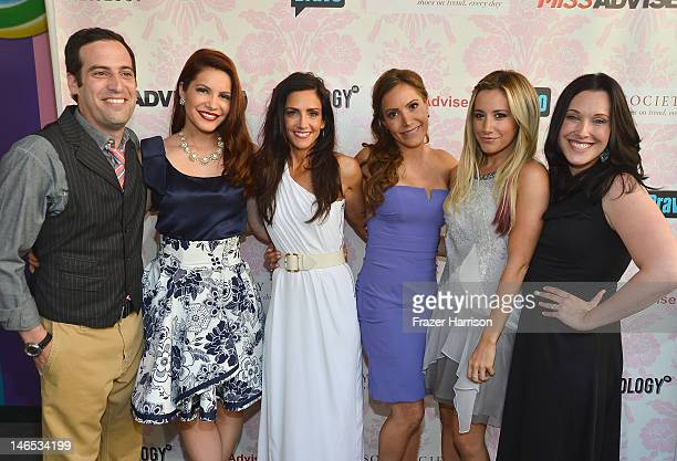Producer Tom Forman TV personalities Julia Allison Emily Morse and Amy Laurent executive producer Ashley Tisdale and producer Jessica Rhoades attend...