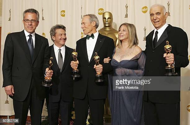 Producer Tom Rosenberg Presenter Dustin Hoffman Best Director Winner for Million Dollar Baby Clint Eastwood Presenter Barbara Streisand and Producer...
