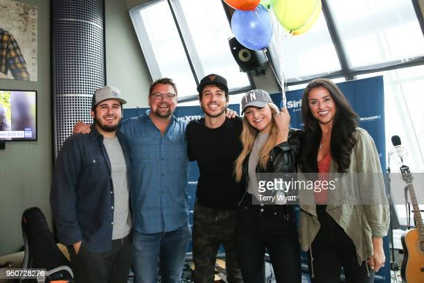 Producer Tommy Massad Host Storme Warren Morgan Evans Kelsea Ballerini and CoHost MC Callahan visit the Storme Warren morning show on SiriusXM's...