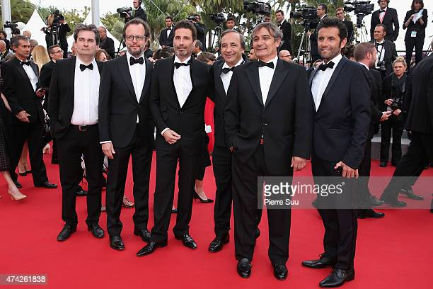 Producer Tony Comiti and photographer Richard Melloul attend the Premiere of Dheepan during the 68th annual Cannes Film Festival on May 21 2015 in...
