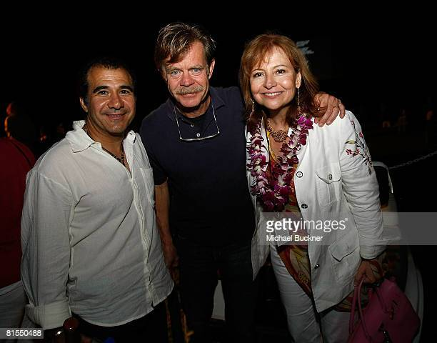 Producer Tony Shawkat actor William H Macy and Dina Burke attend the 2008 Maui Film Festival at the Four Seasons on June 12 2008 in Maui Hawaii