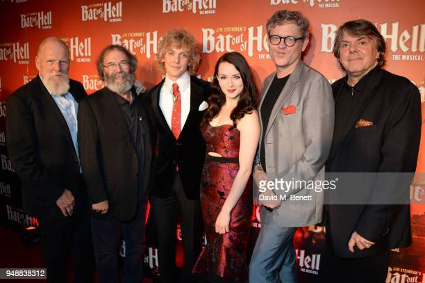 Producer Tony Smith producer Michael Cohl cast members Andrew Polec and Christina Bennington director Jay Scheib and producer Randy Lennox attend the...