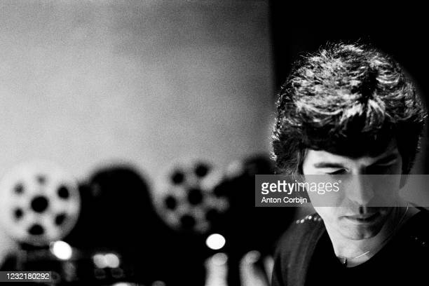 Producer Tony Visconti poses for a portrait in 1980, in London.