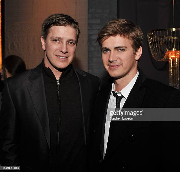 Producer Tove Christensen and brother/actor Hayden Christensen attend the after party for the Cinema Society screening of 'Vanishing On 7th Street'...
