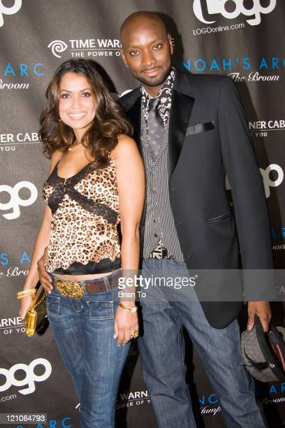 Producer Tracey E Edmonds and director PatrikIan Polk arrive at 'Noah's Arc Jumping the Broom' Los Angeles Premiere held at Mann Chinese 6 Theatre on...