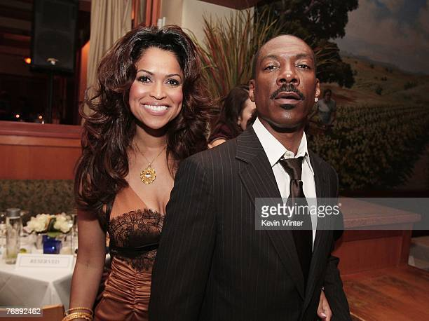 """Producer Tracey Edmonds and actor Eddie Murphy pose at the afterparty for the premiere of Lionsgate's """"Good Luck Chuck"""" at the Napa Valley Grille on..."""