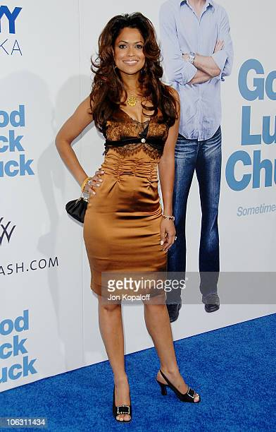 Producer Tracey Edmonds arrives at the Los Angeles Premiere 'Good Luck Chuck' at the Mann National Theater on September 19 2007 in Westwood California