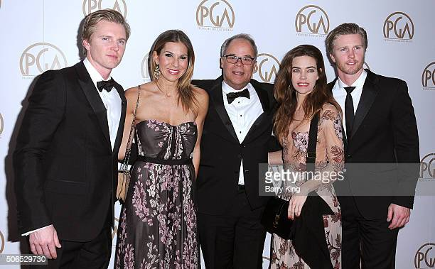 Producer Trent Luckinbill producer Molly Smith honoree/producer Ed McDonnell actress Amelia Heinle and actor Thad Luckinbill attend the 27th Annual...