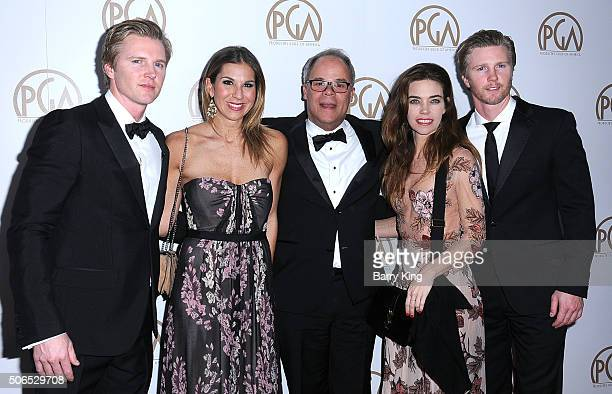 Producer Trent Luckinbill producer Molly Smith nominee Ed McDonnell Actress Amelia Heinle and actor Thad Luckinbill attend the 27th Annual Producers...