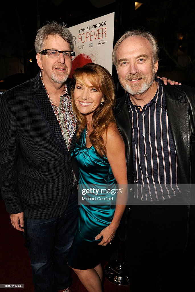 Producer Trevor Albert, Executive Producer Jane Seymour and Director James Keach arrive at the Los Angeles Premiere of 'Waiting For Forever' held at the Pacific Theatres at The Grove on February 1, 2011 in Los Angeles, California.