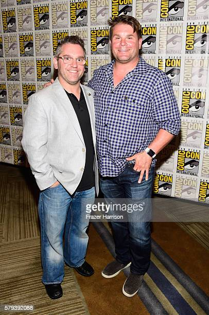 Producer Trevor Roth and producer Rod Roddenberry attend the 'Star Trek 50' press line during ComicCon International on July 23 2016 in San Diego...