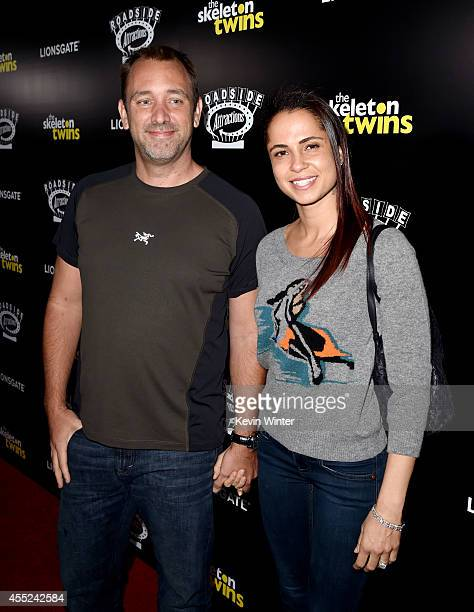 """Producer Trey Parker and his wife Boogie Tillmon at the premiere of Roadside Attractions' """"The Skeleton Twins"""" at the Arclight Theatre on September..."""