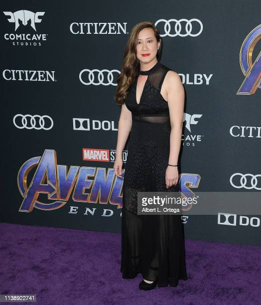 Producer Trinh Tran arrives for the World Premiere Of Walt Disney Studios Motion Pictures Avengers Endgame held at Los Angeles Convention Center on...