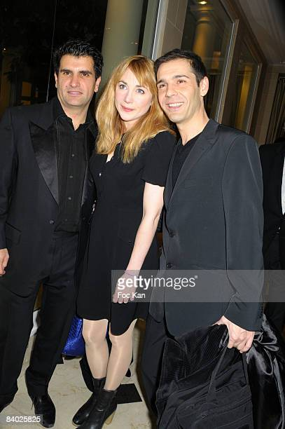 Producer Tristan Duval Actress Director Julie Depardieu and Director Stephan Druet attend The Bests 2008 Awards Ceremony at the Bristol Hotel on...