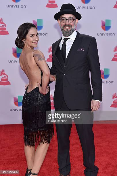 Producer Tristana Robles Reyes and director Kacho Lopez attend the 16th Latin GRAMMY Awards at the MGM Grand Garden Arena on November 19 2015 in Las...